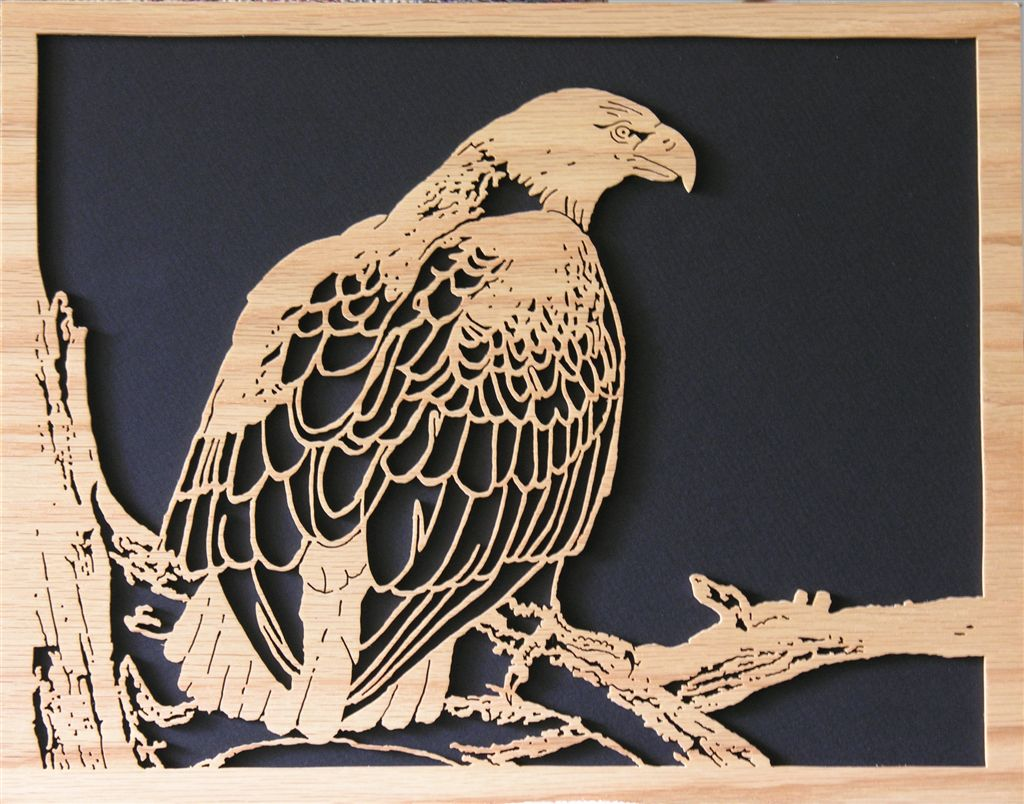 Oak Eagle clock; Pattern from Scroller Ltd.
